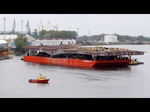 9,700 Tons Destruction & 1,644 Tons Heavy Lift Ship Transport Bridge Most Cłowy