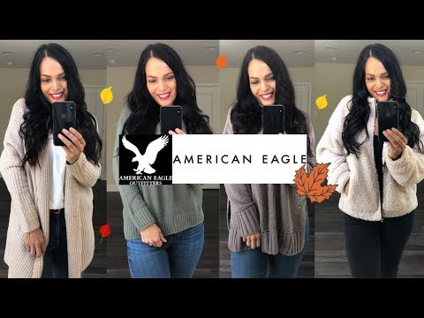 AMERICAN EAGLE AEIRE TRY ON HAUL | AMERICAN EAGLE FALL COZY