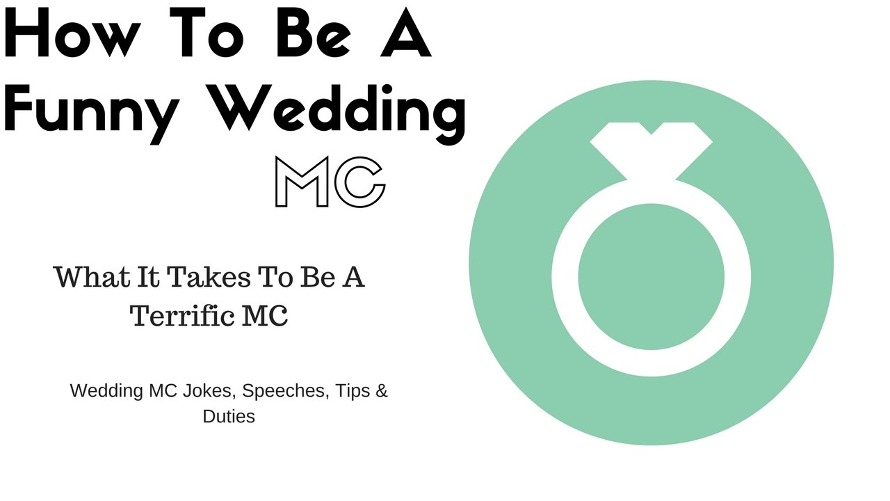 How To Mc A Wedding Template How To Be A Funny Wedding Mc
