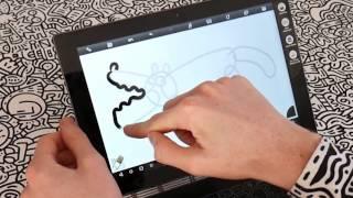 how to doodle a crocodile on a lenovo yoga book