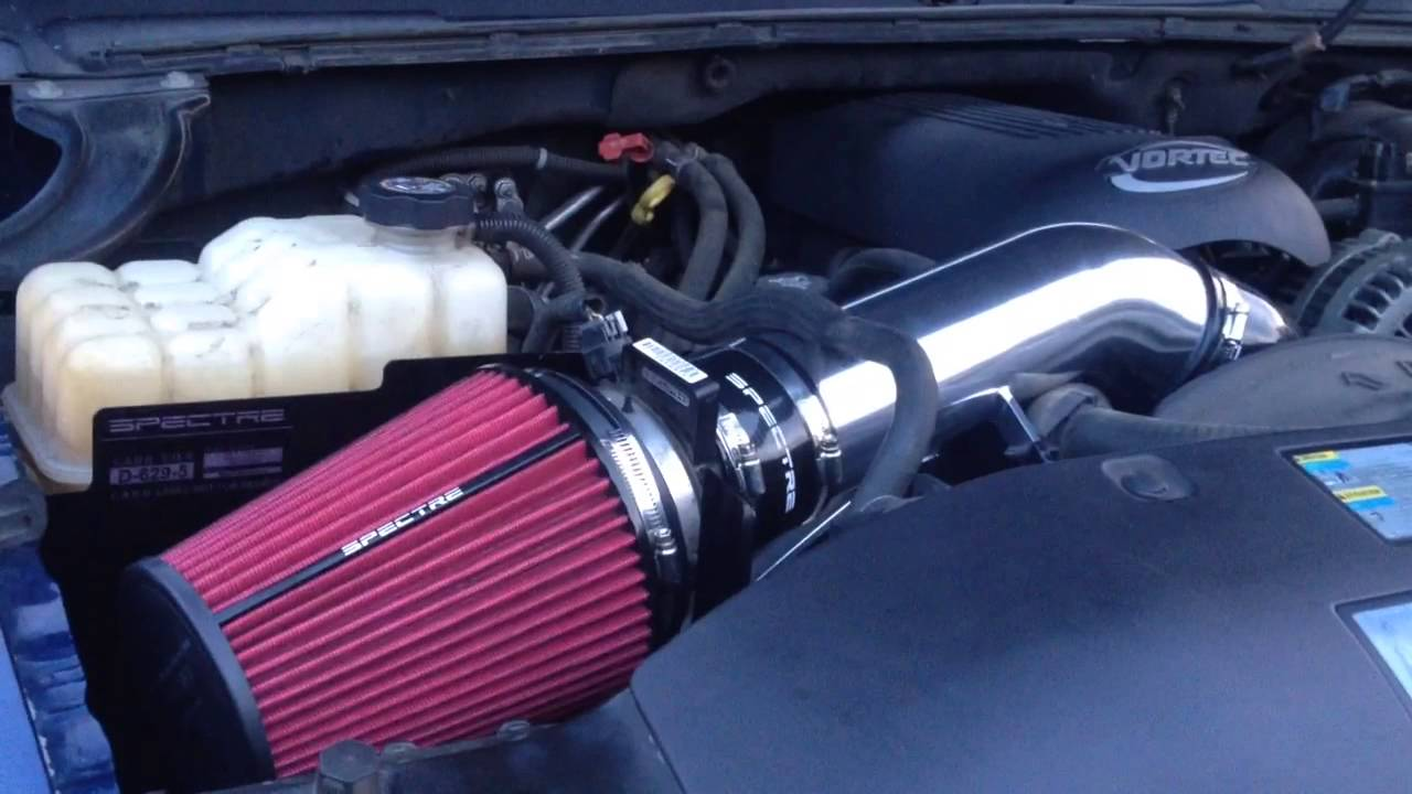 Cold Air Intake For Chevy Silverado 1500 >> Spectre Cold Air Intake On 2003 Chevy Suburban Youtube