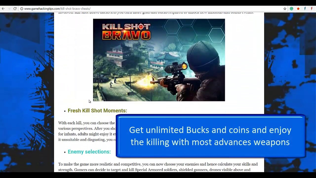 <b>killshot bravo cheats</b> no survey | free gold for <b>kill shot bravo</b> ...