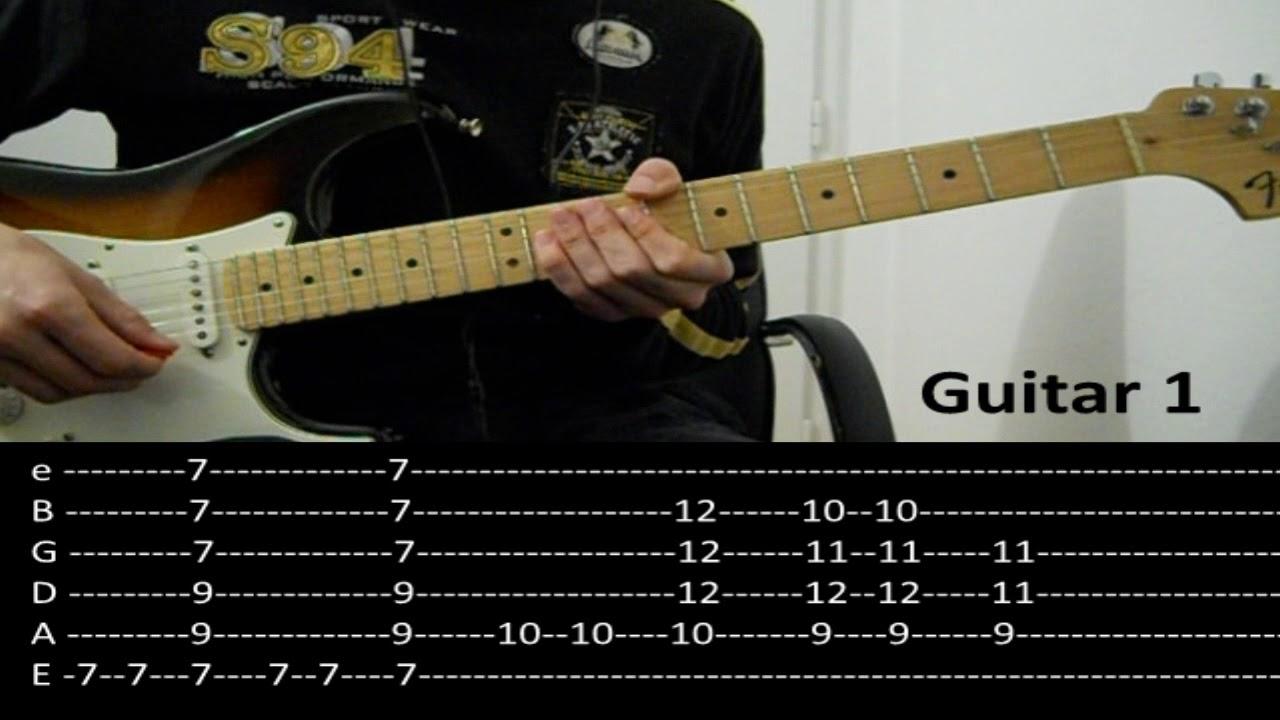 RHCP   Dani California Guitar lesson with TAB