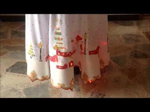 Mantel de navidad con luces youtube - Luces de navidad ...