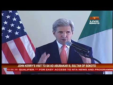 JOHN KERRY VISIT SULTAN OF SOKOTO 23 AUG, 2016
