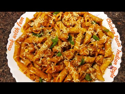 Indian Style Chicken Pasta | Chicken Pasta Recipe | Simple & Yummy Pasta With English Subtitles