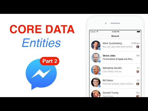 Swift: FB Messenger - Core Data Entities: Create, Read, Delete (Ep 2)