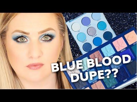 COLOURPOP BLUE MOON PALETTE VS JEFFREE STAR BLUE BLOOD thumbnail