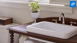 Making a Bathroom Vanity From Secondhand Furniture