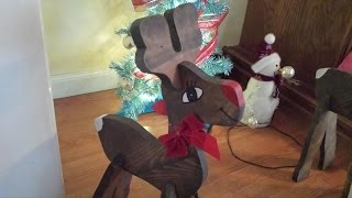 How to make Wooden Reindeer Christmas Decorations