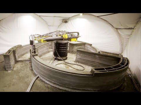 The Race to Build the First 3D Printed House   The B1M