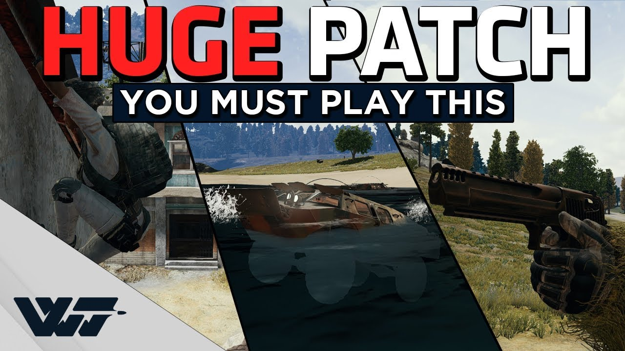 HUGE NEW PATCH - Desert Eagle, Gas cans blow up, Ledge grab and new vehicle! - PUBG