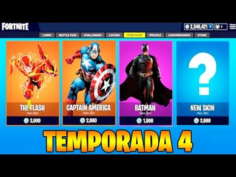 *TEMPORADA 4* NIVEL 100 NUEVOS SUPERHEROES!! FORTNITE BATTLE ROYALE
