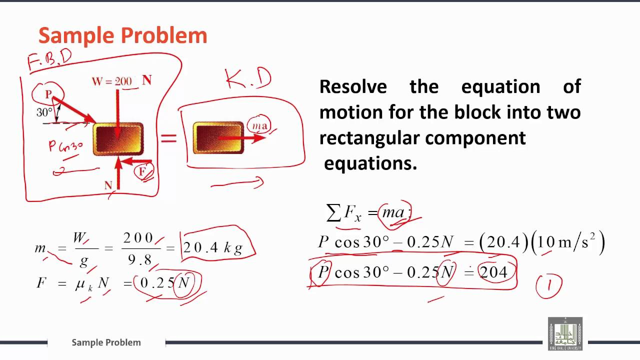 engineering mechanics c9 l4 free body diagram and kinetic rh youtube com mechanics free body diagram problems mechanics free body diagram pdf