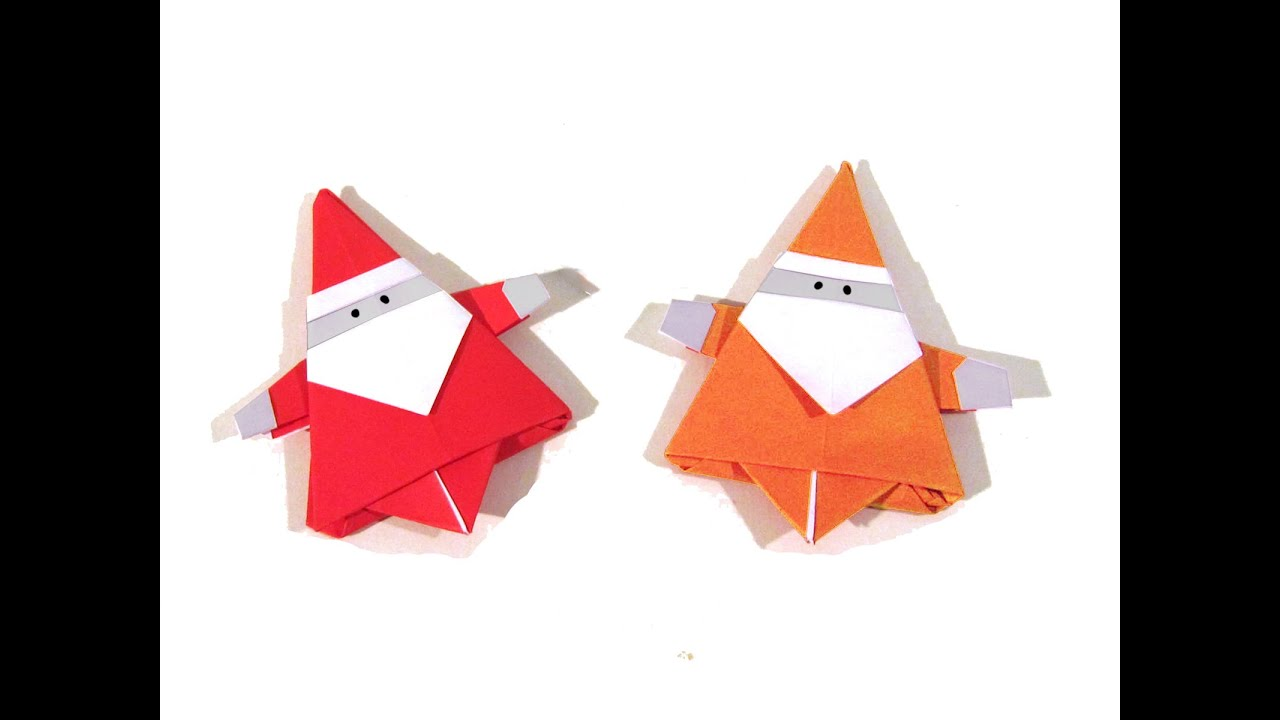 christmas origami santa claus how to make an easy
