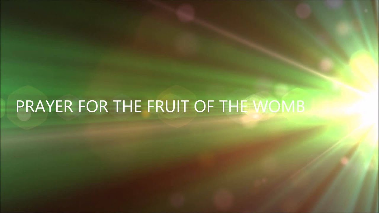 Pray for Fruit of the Womb