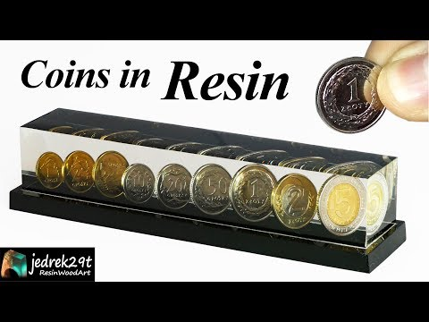 DIY. Coins in Epoxy Resin / ART RESIN