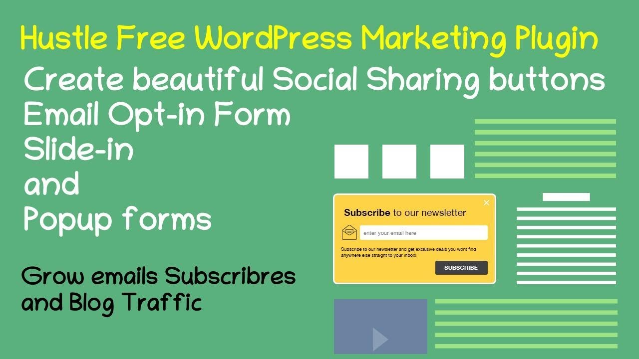The Best Social Share Email Opt In Form And Popup Wordpress Plugin 2020 Youtube