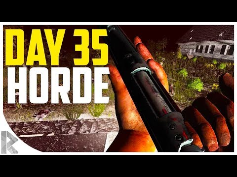 DAY 35 HORDE FROM NEW TOWER! - 7DTD Gameplay: WOTW Mod #27