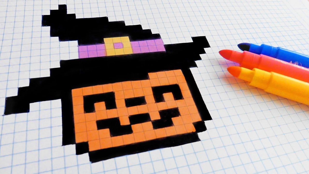 Halloween Pixel Art How To Draw A Pumpkinhead Pixelart