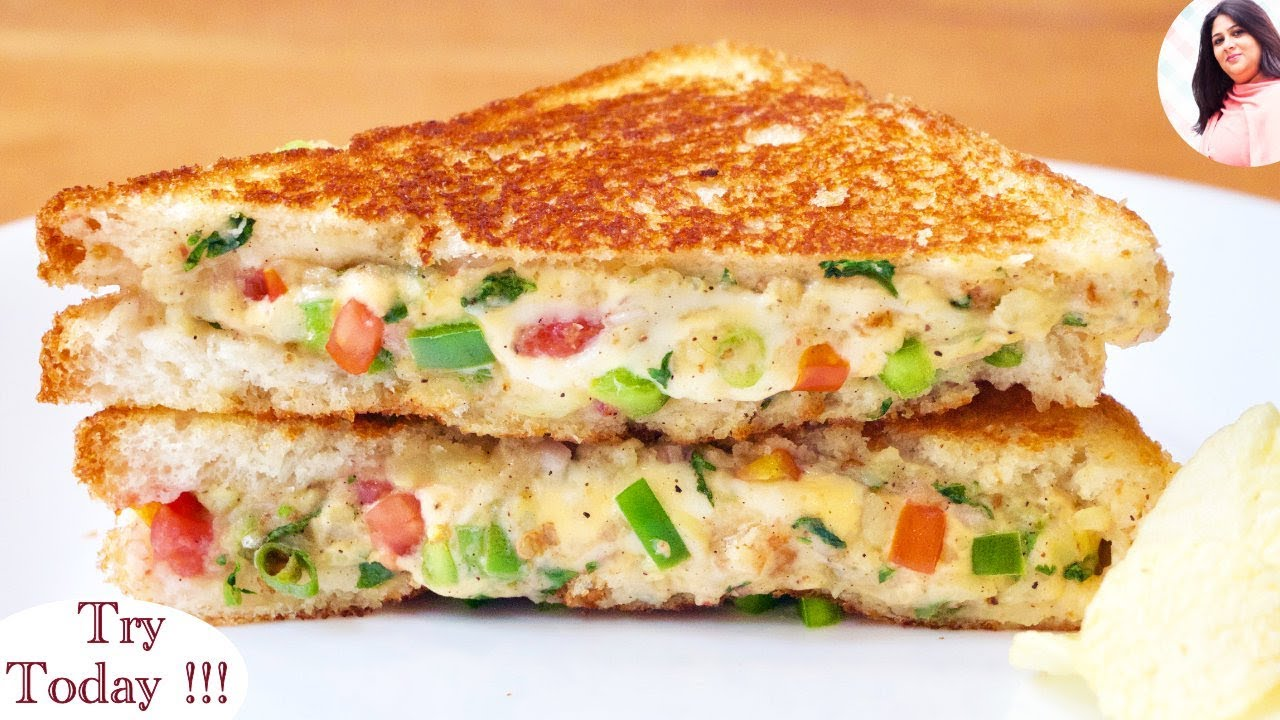 Best Cheesy Veg Sandwich Recipe Cheese Sandwich Breakfast Recipe Lunchbox Recipe For Kids Youtube