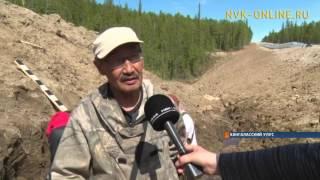 Во время дорожных работ в Якутии нашли останки древнего животного