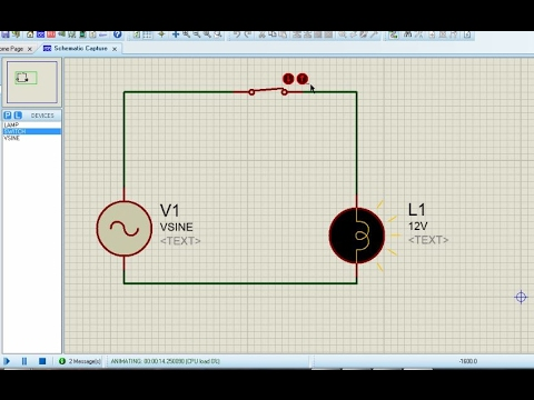 Proteus For Beginners Turorial 3 Creating An Ac Circuit Youtube