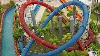 Looping Rocket - Interlocking Looping Slides at Dino Water Park