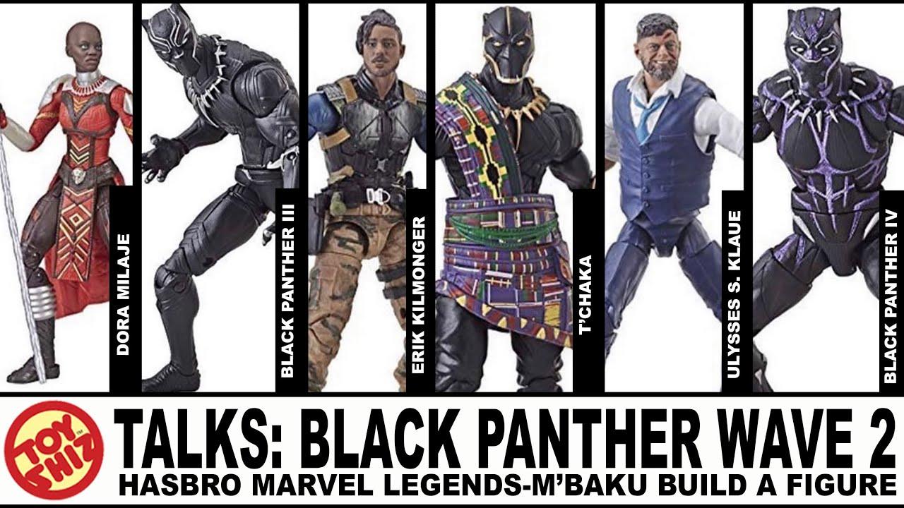 Marvel Legends Black Panther Wave 2 Set of 6 Figures M/'Baku BAF In Stock New