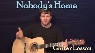 Nobody's Home (Avril Lavigne) Easy Guitar Lesson How to Play Tutorial Capo 1st