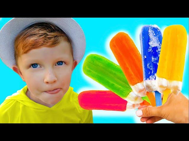 Лео и папа в детской истории про фруктовое мороженое (0+)