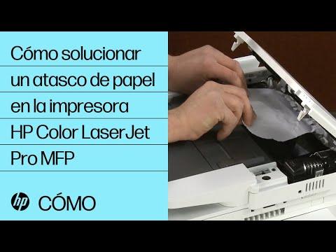 Cómo solucionar un atasco de papel en impresoras HP Color LaserJet Pro | HP LaserJet | HP