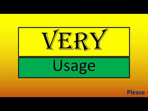 Usage of 'very'|Spoken English through Telugu|Learn English easily
