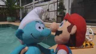 Super Mario and Clumsy Smurf Shark Problem