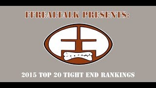 2015 Fantasy Football Top 20 TE Rankings