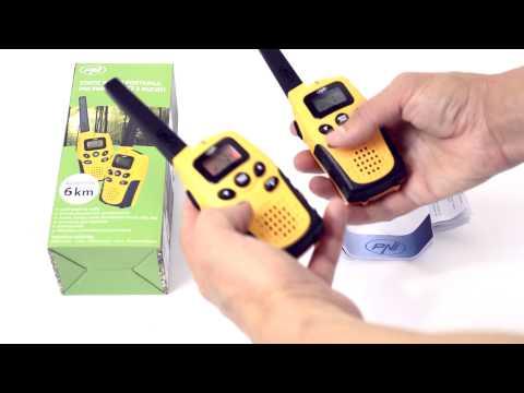 Statie radio PMR portabila PNI PMR R6 set cu 2bc fara incarcator