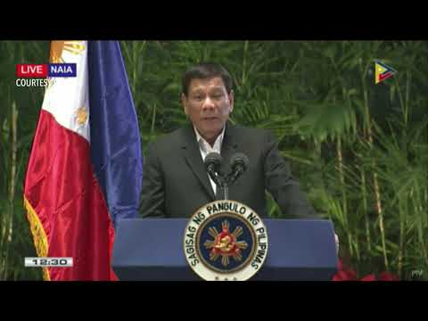 Duterte delivers arrival speech after APEC Summit 2017 in Vi
