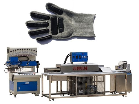 process of making safety glove's  pvc parts