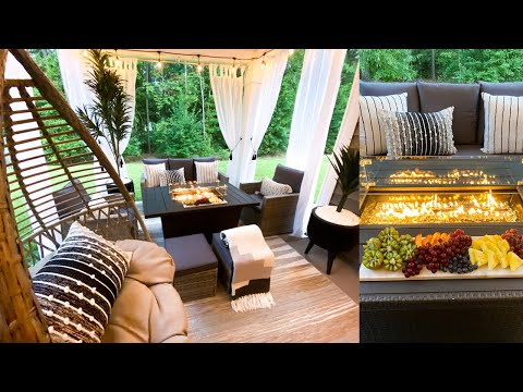 DIY PATIO MAKEOVER | Satisfying Clean and Decorate Patio Makeover | Outdoor Decorating Ideas
