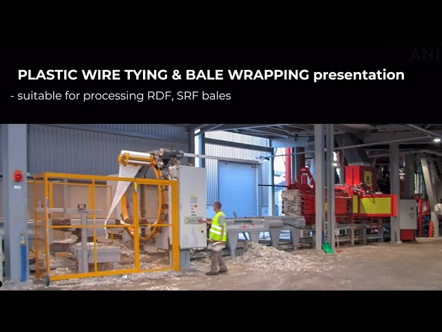 Plastic wire tying and bale wrapping