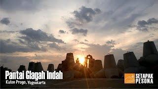 Deburan Ombak di Pantai Glagah Indah, Kulon Progo, Yogyakarta
