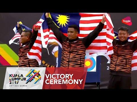 Archery – Men's Team Compound Victory Ceremony   29th SEA Games 2017