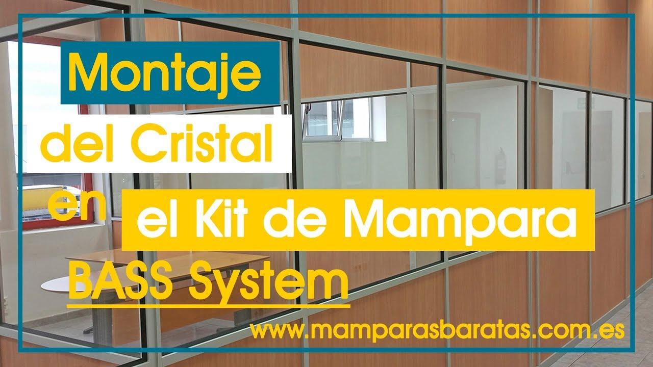 Montaje del cristal en una mampara divisoria con el kit - Como hacer una mampara ...