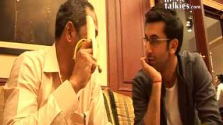Peeling pleasure: Nana goes bananas with Ranbir!!