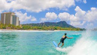 WAIKIKI SURFING   WITH MY GIRLFRIEND & FRIENDS
