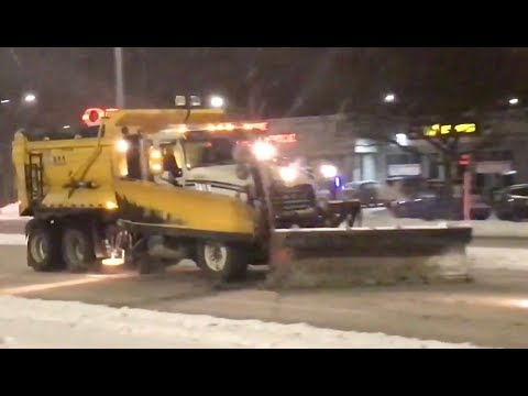 Snow Removal Plowing Streets of Ottawa