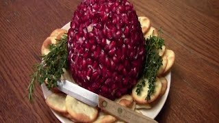 Pomegranate Italian Cream Cheese Ball