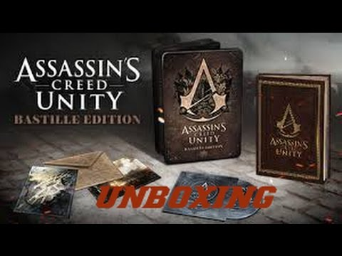 ★UNBOXING ASSASSINS CREED UNITY BASTILLE EDITION PS4 ...