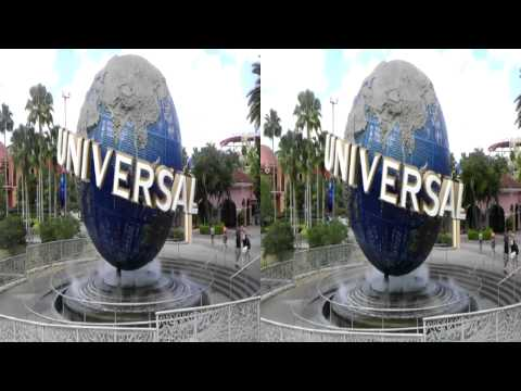 Universal Studios (Orlando) Spinning Globe in 3D