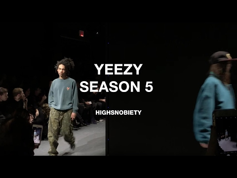 The view from the YEEZY Season 5 catwalk | Highsnobiety